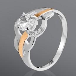 """Кольцо """"Сюрприз"""" из серебра и золота"""