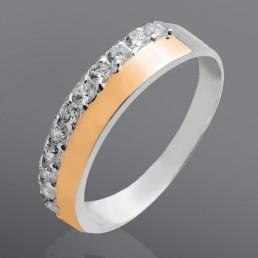 """Кольцо из серебра и золота """"Амалия"""""""
