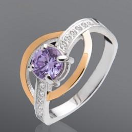 """Кольцо с цветным камнем """"Импреза"""""""