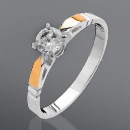"""Серебряное кольцо """"Аризона"""" с золотом"""