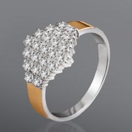 """""""Сияние"""" - кольцо из золота и серебра"""