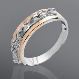 """Женское кольцо """"Загадка"""" с камнями прямоугольной формы"""