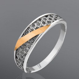 """Женское кольцо """"Калипсо"""" с золотыми пластинами"""