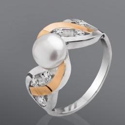 """Женское кольцо """"Шарм"""" с жемчугом"""