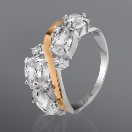 """Серебряное кольцо с золотыми пластинами """"Ольвия"""""""