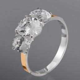 """Женское кольцо """"Идиллия"""" с овальными камнями"""