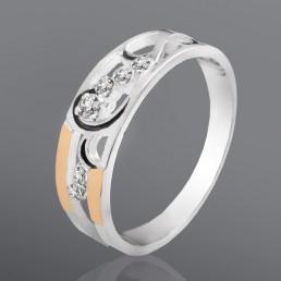"""Женское кольцо """"Комета"""" с фианитами"""