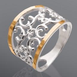 "Женское кольцо ""Ажур"", без камней"