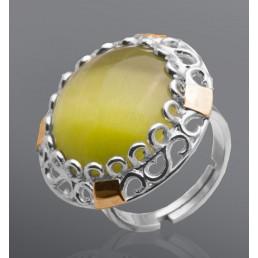 """Кольцо из серебра и золота с улекситом """"Агата"""""""