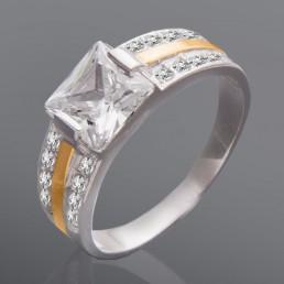 """Женское кольцо с квадратным камнем """"Богиня"""""""