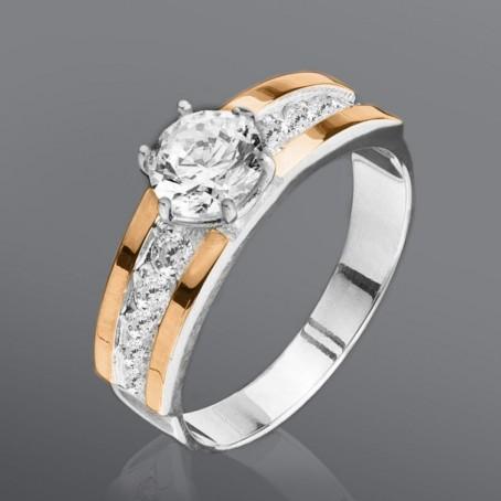 """Женское кольцо """"Нимфа"""" с кубическим цирконием"""