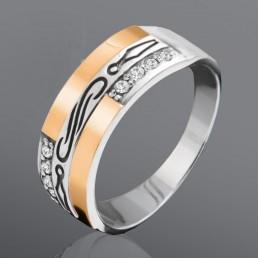 """Женское кольцо с камнями """"Эмоция"""""""