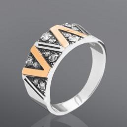 """Кольцо """"Элла"""", сделано из серебра и золота"""