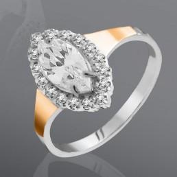 """Кольцо """"Магия"""" из серебра и золота"""