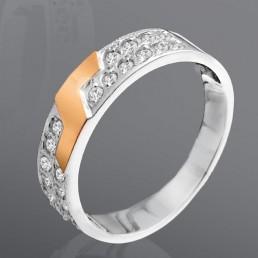 """Женское кольцо """"Эрика"""" с белыми цирконами"""