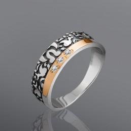 """Женское кольцо """"Камелия"""" с камнями"""