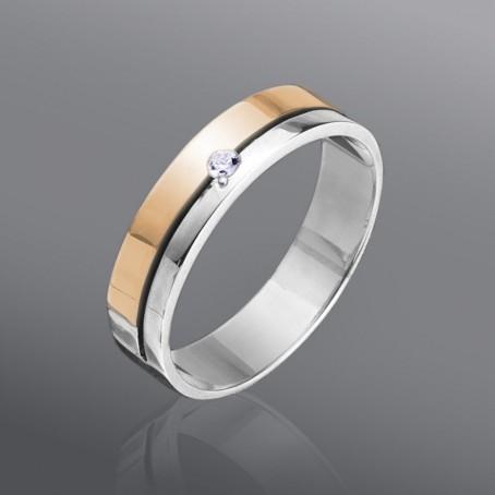 Обручальное кольцо с фианитом
