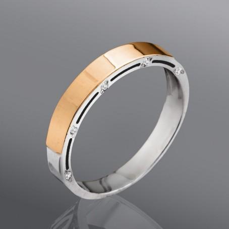 """Обручальное кольцо """"Оскар"""" с фианитами"""