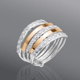 """Женское кольцо с камнями """"Неделька"""""""
