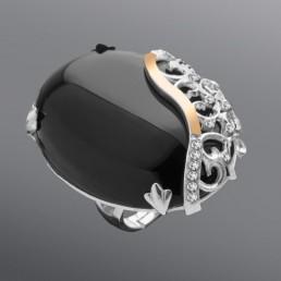 """Женское кольцо с крупным камнем """"Джованна"""""""