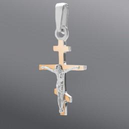 Крест из серебра и золота в классическом стиле