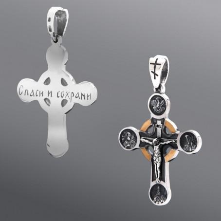 Массивный крест, сделанный из серебра и золота